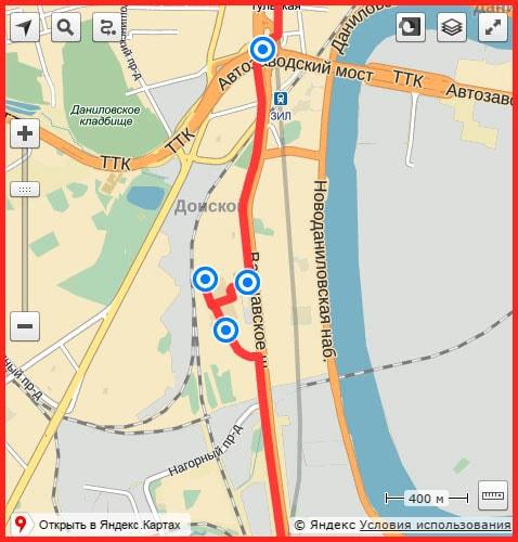 карта как добраться до хостела Арена