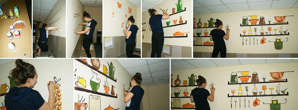 ремонт кухни в хостеле